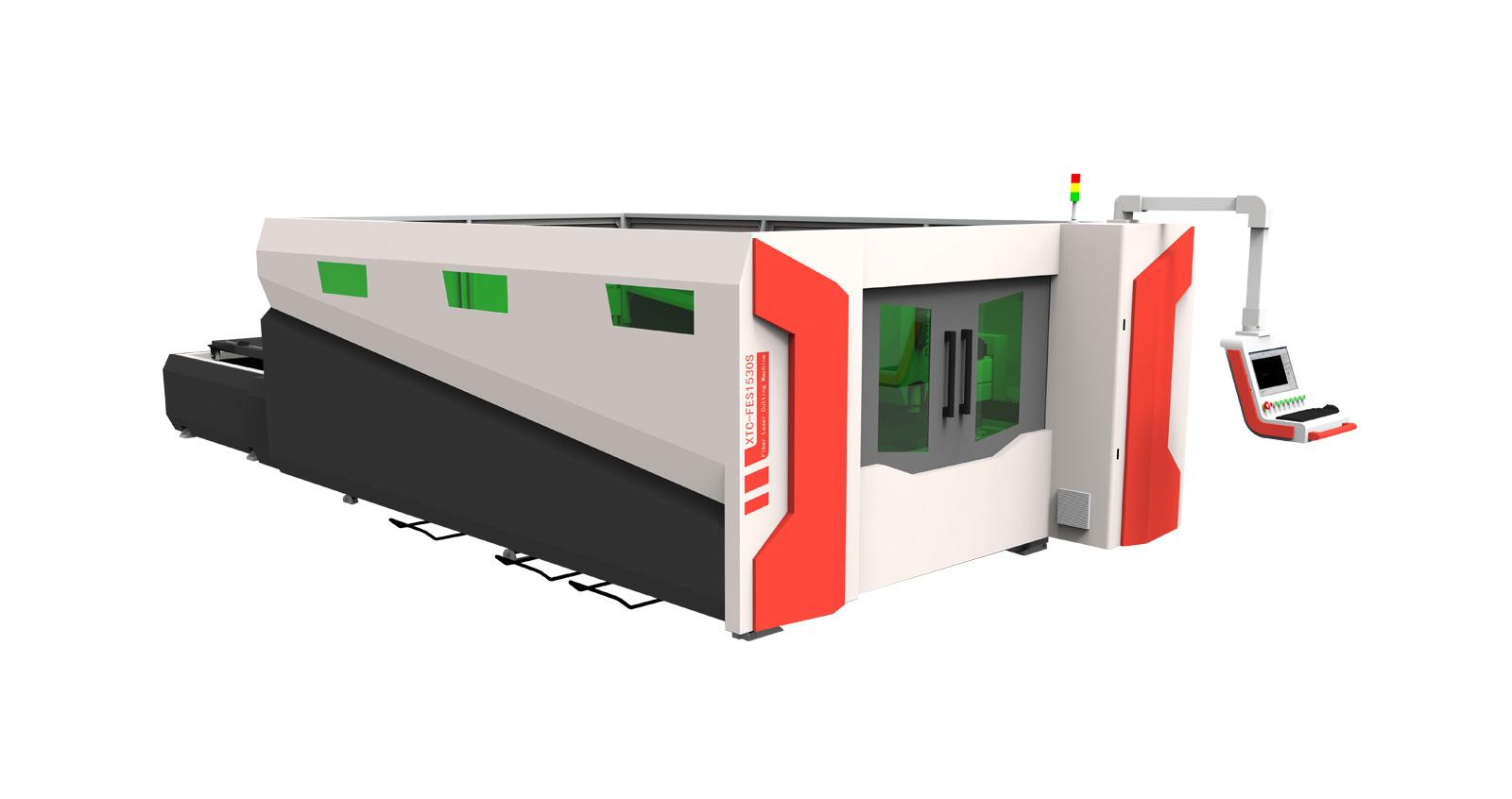 Полностью закрытый волоконный лазерный станок для резки XTC-FS1530H
