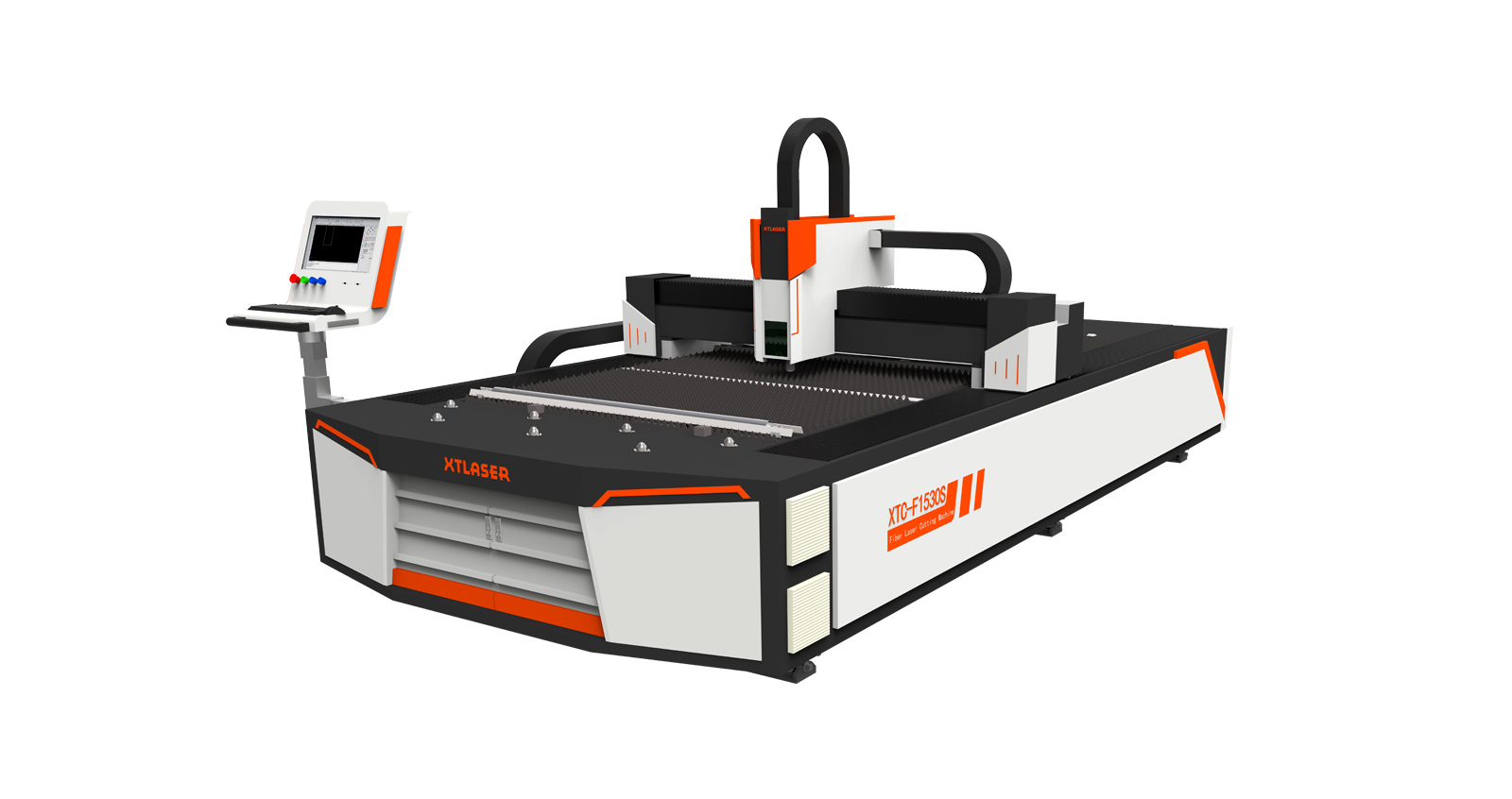 Волоконный станок для лазерной резки открытого типа со сменным столом XTC-FE1530H