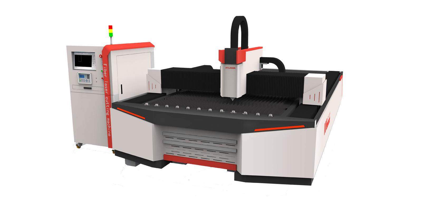 Волоконный станок лазерной резки открытого типа с отдельным рабочим местом XTC-F1530H